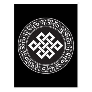 Buddhistischer endloser Knoten Postkarte