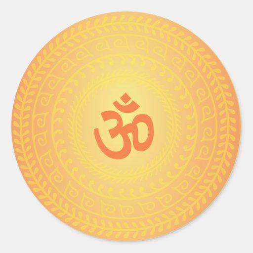Buddhistischer Mandela Aufkleber Yoga-OM