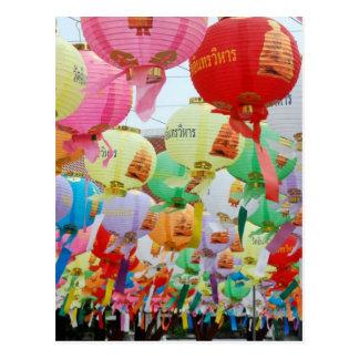 Buddhistischer Tempel-Feier Thailands Postkarte