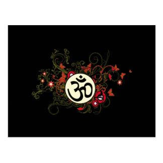Buddhistisches Blumenom Postkarten