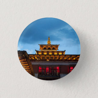 Buddhistisches Dzong Dach Runder Button 2,5 Cm
