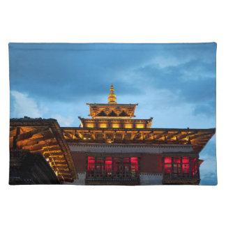 Buddhistisches Dzong Dach Tischset