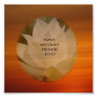 """Buddhistisches Plakat SGI - Lotus """"Nam Myoho Renge"""