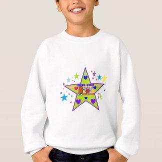 Buddie das Budgie mit Sternen u. Herzen Sweatshirt