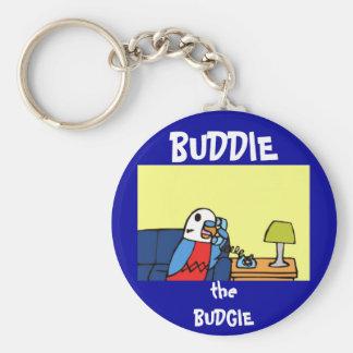 Buddie ruft sein Kongressabgeordnetes an Standard Runder Schlüsselanhänger