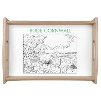 Bude Cornwall Cololuring Buchkleid - rosa Haus Tablett