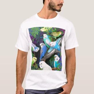 Budgerigar-Parakeets-und Farn-T - Shirt
