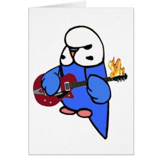 Budgie Felsen-Rote Gitarre Karte