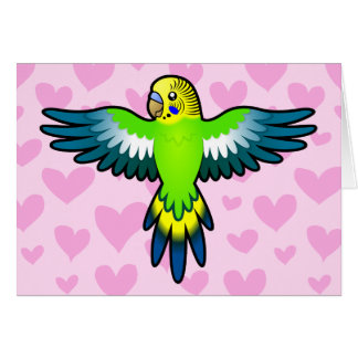 Budgie/Parakeet-Liebe Karte