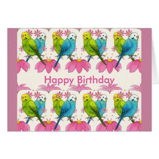 Budgie Vogel alles Gute zum Geburtstagkarte Karte