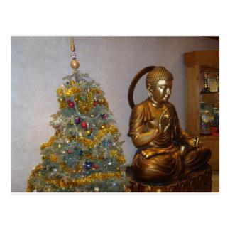 Budha Weihnachten Postkarte