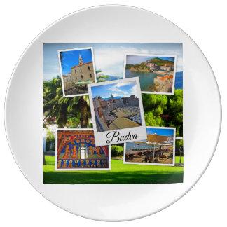 Budva Montenegro Collage Porzellanteller