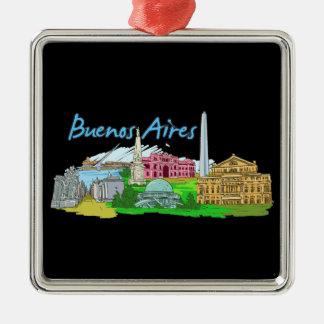 Buenos Aires - Argentinien Silbernes Ornament