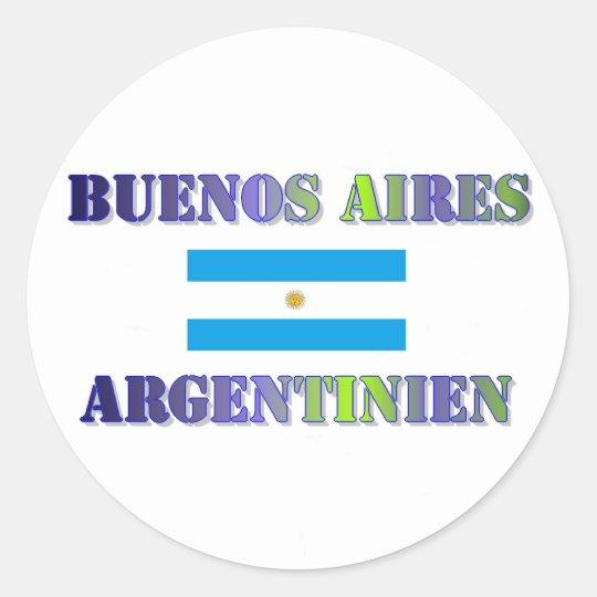 Buenos Aires Runder Aufkleber