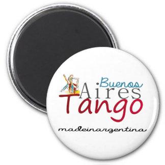Buenos- AiresTango Runder Magnet 5,1 Cm