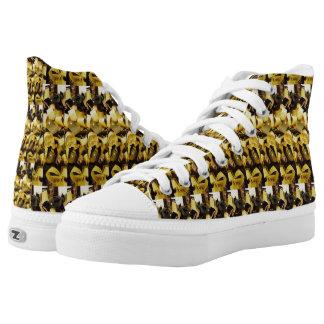 Buf Bronze Hoch-geschnittene Sneaker