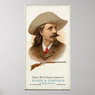 Buffalo Bill-Gewehr-tireur 1887 Poster