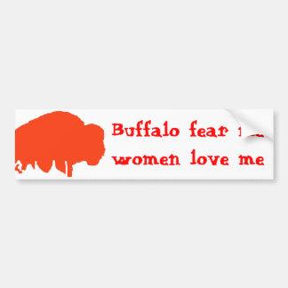Büffel befürchten mich, Frauen-Liebe ich Autoaufkleber