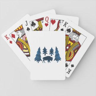 Büffel/Bison Spielkarten
