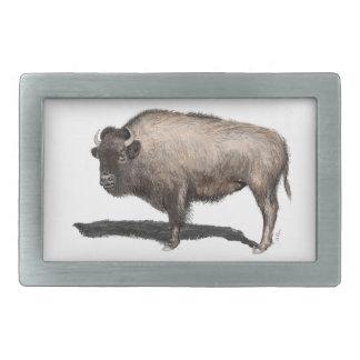 Büffel, Bubalus Rechteckige Gürtelschnalle