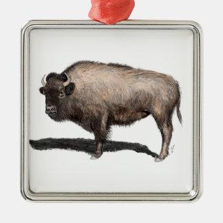 Büffel, Bubalus Silbernes Ornament