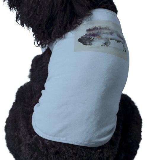 Büffel-doppelte Belichtung-amerikanische Ärmelfreies Hunde-Shirt