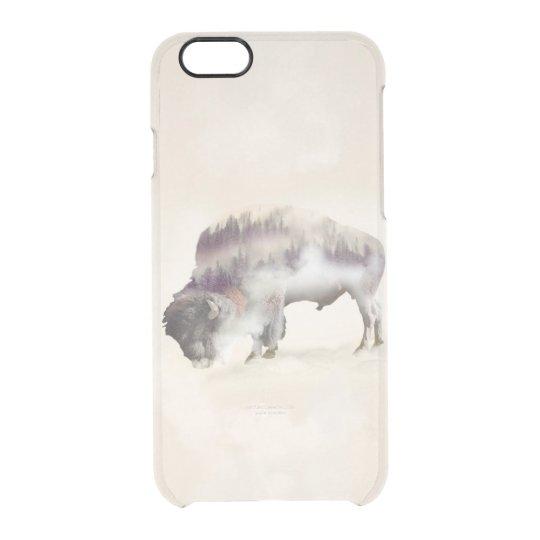 Büffel-doppelte Belichtung-amerikanische Durchsichtige iPhone 6/6S Hülle