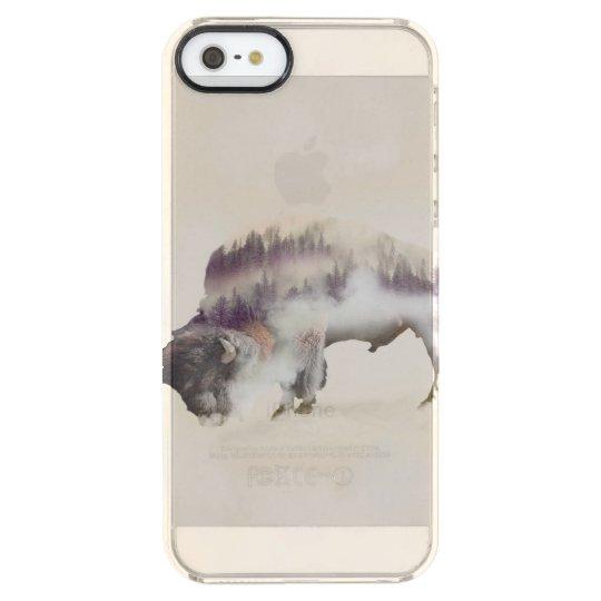 Büffel-doppelte Belichtung-amerikanische Durchsichtige iPhone SE/5/5s Hülle