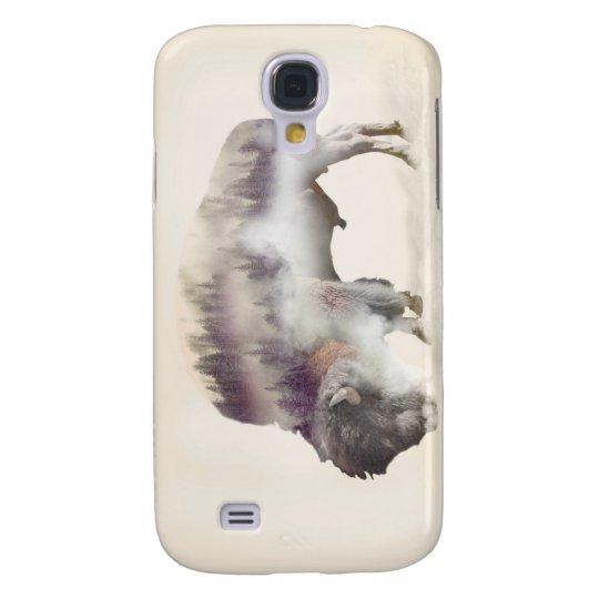 Büffel-doppelte Belichtung-amerikanische Galaxy S4 Hülle
