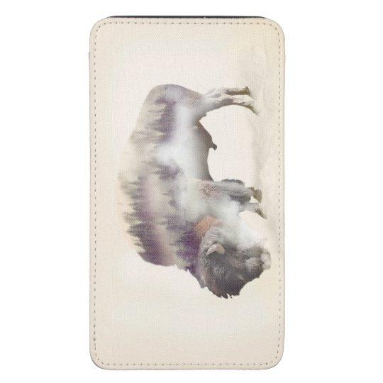 Büffel-doppelte Belichtung-amerikanische Galaxy S5 Tasche