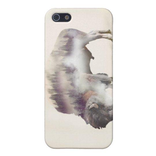 Büffel-doppelte Belichtung-amerikanische Hülle Fürs iPhone 5