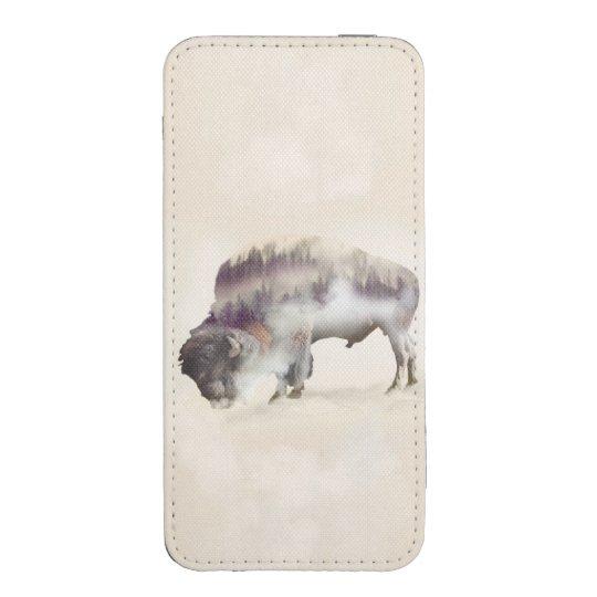 Büffel-doppelte Belichtung-amerikanische iPhone Tasche