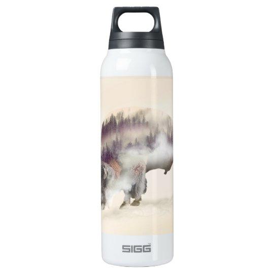 Büffel-doppelte Belichtung-amerikanische Isolierte Flasche