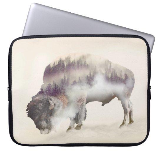 Büffel-doppelte Belichtung-amerikanische Laptop Sleeve