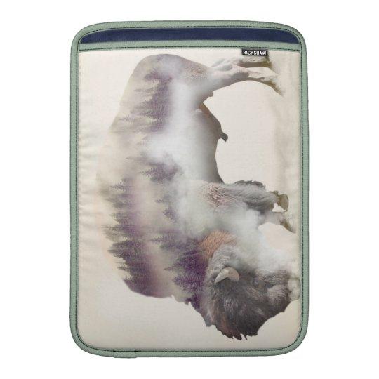 Büffel-doppelte Belichtung-amerikanische MacBook Air Sleeve