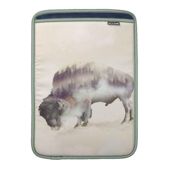 Büffel-doppelte Belichtung-amerikanische MacBook Sleeve