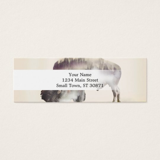 Büffel-doppelte Belichtung-amerikanische Mini Visitenkarte
