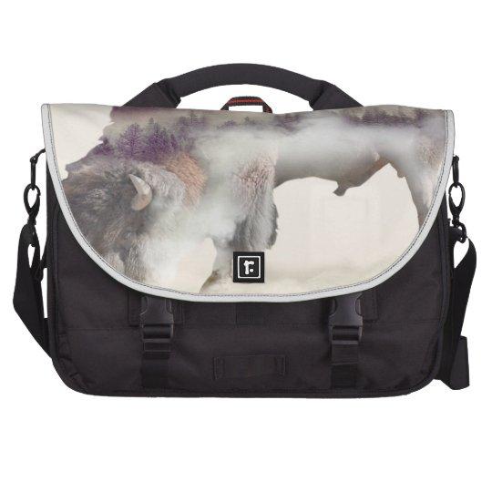 Büffel-doppelte Belichtung-amerikanische Notebook Tasche