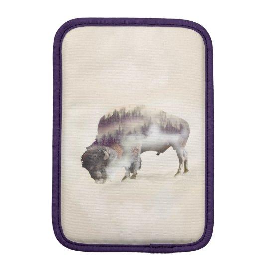Büffel-doppelte Belichtung-amerikanische Sleeve Für iPad Mini