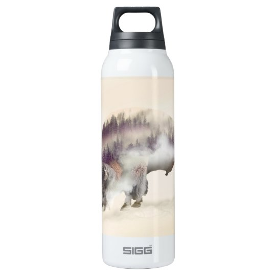 Büffel-doppelte Belichtung-amerikanische Thermoflaschen