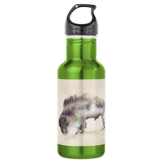 Büffel-doppelte Belichtung-amerikanische Trinkflasche