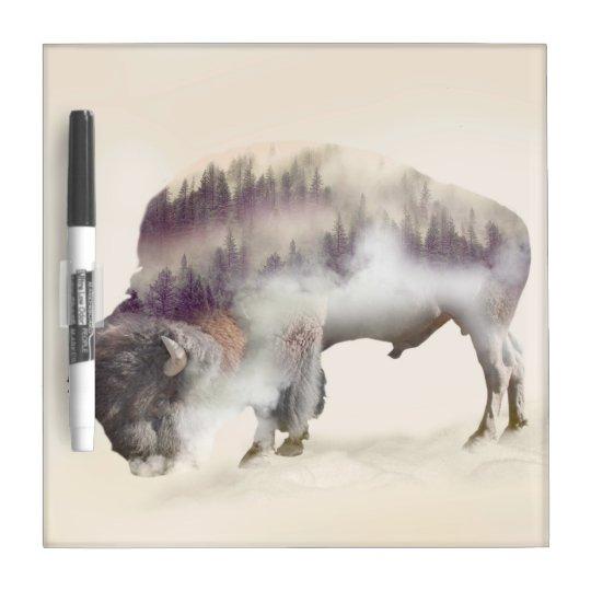 Büffel-doppelte Belichtung-amerikanische Trockenlöschtafel