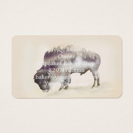 Büffel-doppelte Belichtung-amerikanische Visitenkarte