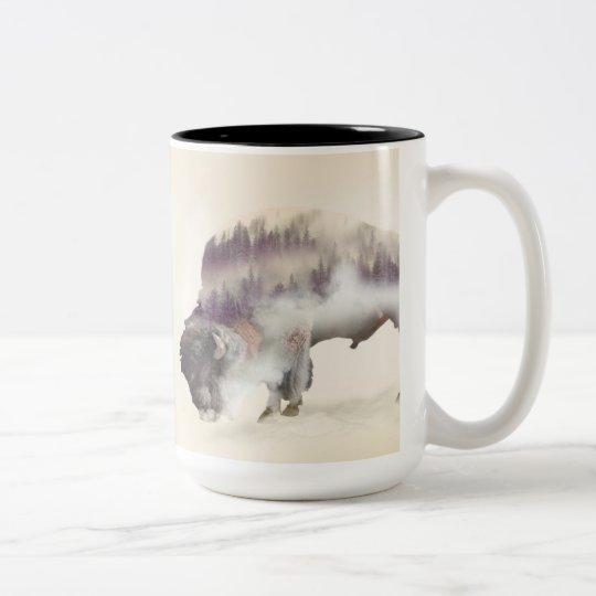 Büffel-doppelte Belichtung-amerikanische Zweifarbige Tasse
