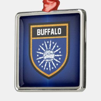 Büffel-Flagge Silbernes Ornament