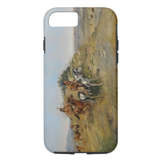 Büffel-Jagd, 1891 (Öl auf Leinwand) iPhone 8/7 Hülle