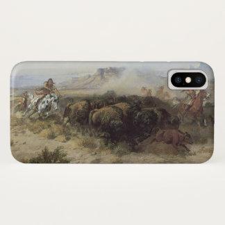 Büffel-Jagd-Nr. 26 durch cm Russell, Vintager iPhone X Hülle
