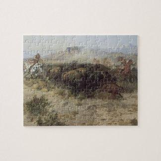 Büffel-Jagd-Nr. 26 durch cm Russell, Vintager Puzzle