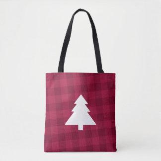 Büffel-karierte Weihnachtsbaum-Tasche Tasche