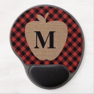 Büffel-karierter Leinwand-Apple-Lehrer Gel Mousepad